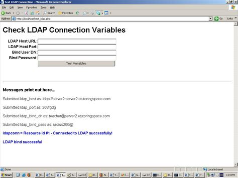 tutorial php ldap error php