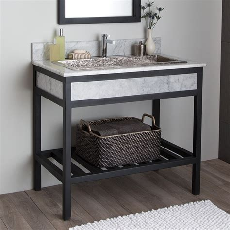 Cuzco Bathroom Vanity Base With Carrara Marble Native Trails Marble Bathroom Vanity