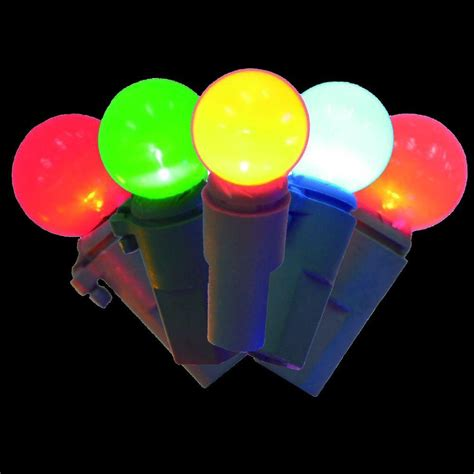 home accents holiday 100 light led multi color faceted c6