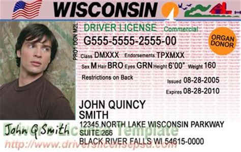 wisconsin drivers license template drivers license drivers license drivers license