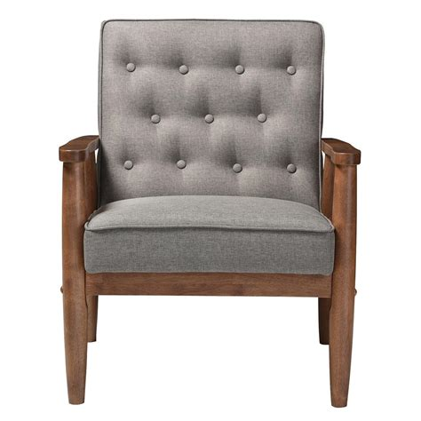 studio chairs baxton studio sorrento mid century gray fabric upholstered