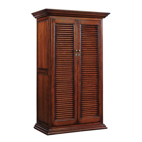 Louvred Cabinet Doors Furniture Classics 71140 Oak Louvered Door Cabinet Discount Furniture At Hickory Park Furniture