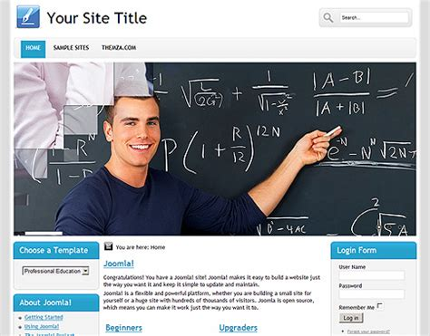 themes joomla education professional educationl free joomla 1 6 template from themza