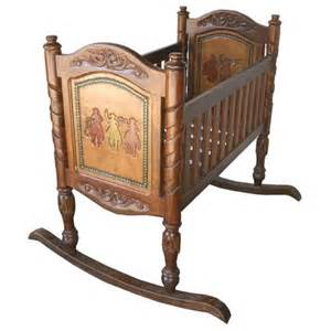 Western Baby Cribs by Carved Western Wooden Baby Cradle Cabin