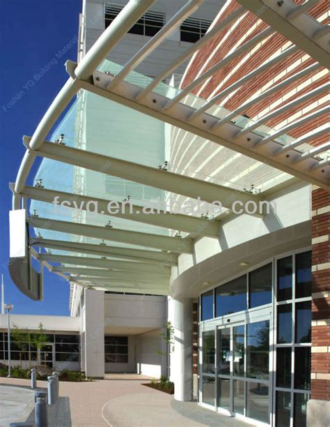 large outdoor glass awning canopy design view canopy yg