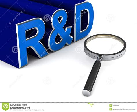r d research and development royalty free stock photos image