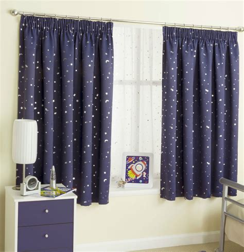 Navy Bedroom Drapes Navy Blue 46 Quot X 72 Quot Childrens Moons Curtains