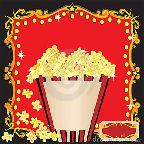 popcorn    birthday party invitation stock images