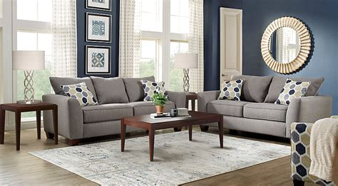 Bonita Springs Living Room Set Rooms To Go Bonita Springs Gray 7 Pc Living Room Living Room Sets Gray
