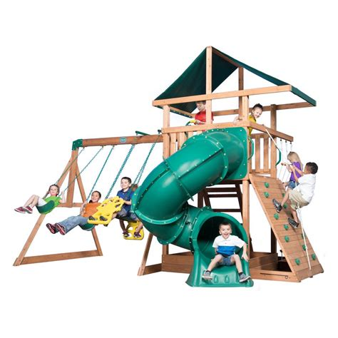 step one swing set step2 climber and swing set 754300 the home depot