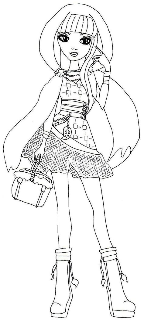 ever after high coloring pages rosabella free printable ever after high coloring pages cerise hood