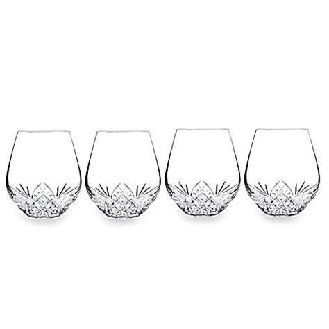 bed bath and beyond dublin ca godinger dublin reserve stemless wine goblets set of 4