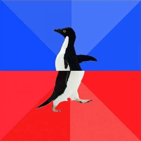 Meme Socially Awkward Penguin - socially awkward awesome penguin blank meme template imgflip
