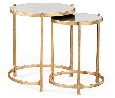 mirrored nest of tables nest of mirrored tables gold swanky interiors