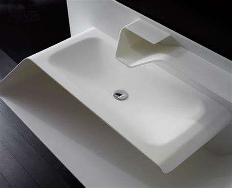 totally integrated sink faucet from bandini the arya