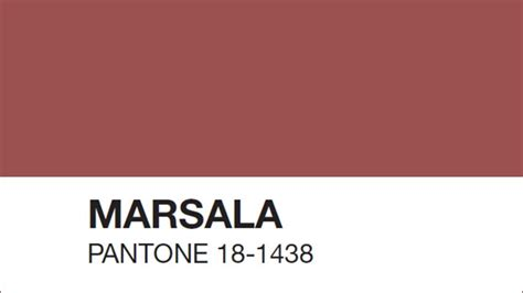 what is pantone pantone s color of the year is marsala and it has some