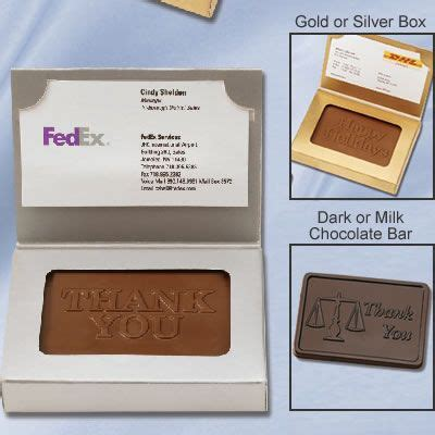 Chocolate Bar Gift Card - chocolate bar business card box holder executive chocolate gift customized