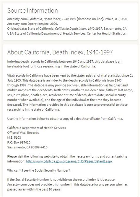 California Records Index Organization Genealogy Gems