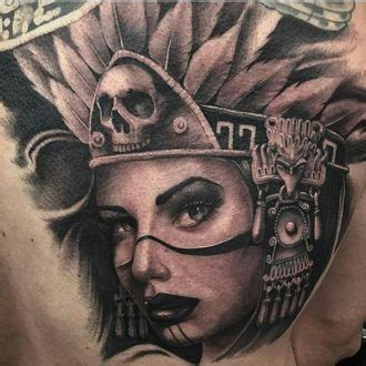 aztec woman tattoo cool ideas for and the