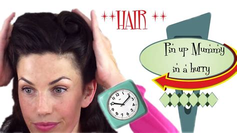 quick and easy retro hairstyles pin up mummy in a hurry 6 quick and easy vintage retro