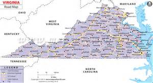 map of virginia and carolina with cities virginia road map http www mapsofworld