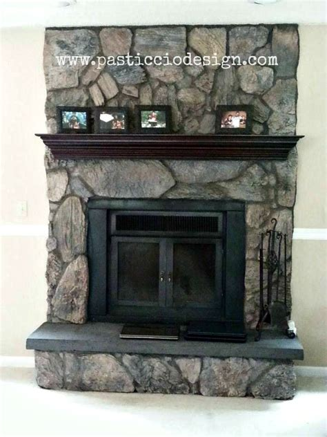 lava rocks for fireplace once upon a time this fireplace was lava rock with a matching aggregate hearth and honey