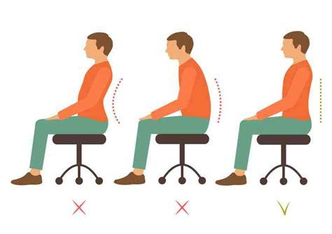 sedia postura 5 suggerimenti per migliorare la postura
