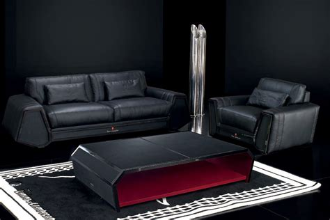 couch spider sofa in leather and carbon fiber in white spider