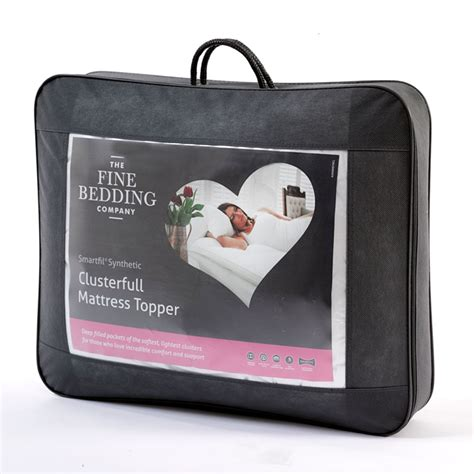 the bedding company the fine bedding company clusterfull firm mattress topper jarrold norwich