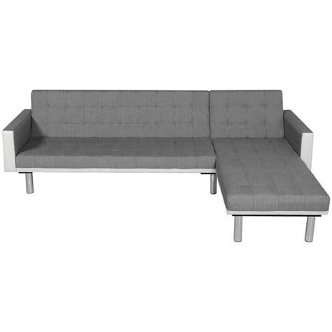 divani a l vidaxl divano letto a l in tessuto bianco e grigio vidaxl it