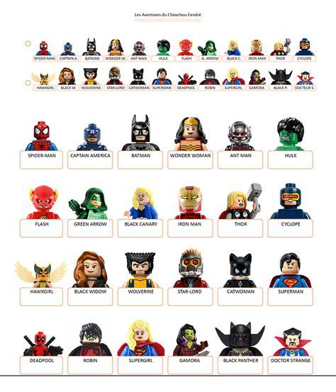 printable board game characters qui est ce 224 imprimer super heroes marvel dc lego