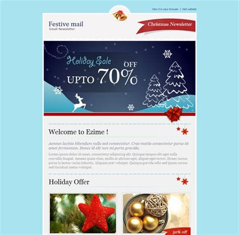 9 Best More Christmas Holiday Landing Page Email Newsletter Templates Images On Pinterest Mailchimp New Year Template