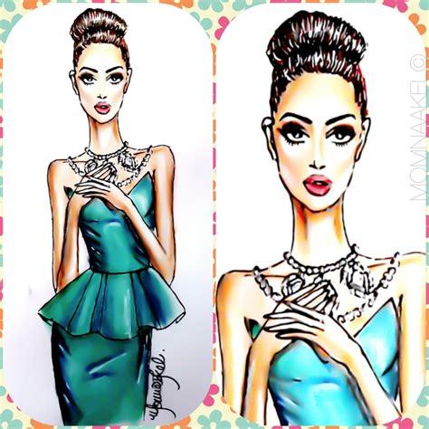 pattern drawing fashion design