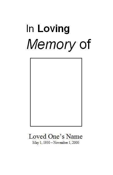 in memory of greeting card micarosoft template free funeral program template for microsoft word funeral