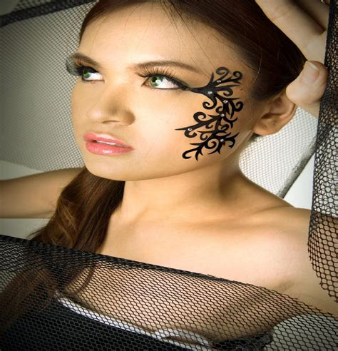 woman face tattoo tattoos