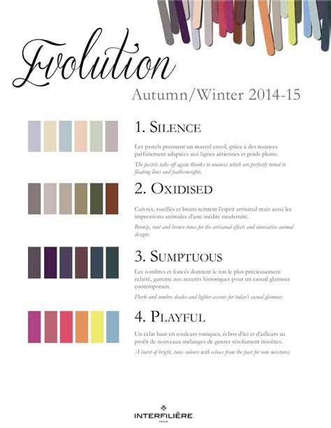fall color trends color palette and schemes for rooms in interfiliere trends autumn winter 2014 2015 nidhi saxena