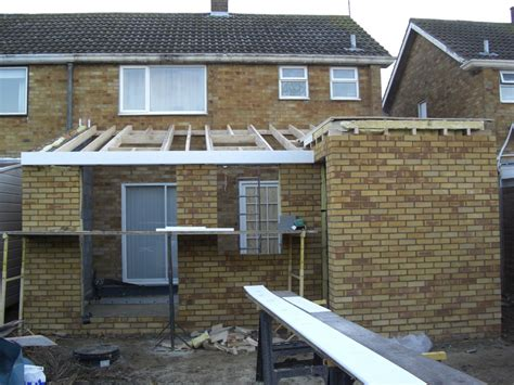 Extension Roof Construction Building Flat Roof Extension Images