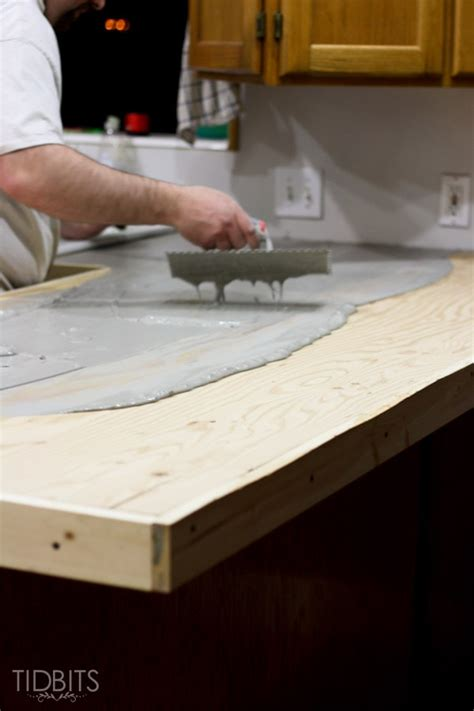 Polyurethane On Concrete Countertop by Diy Feather Finish Concrete Countertops And How They
