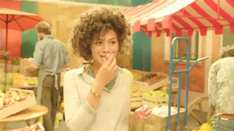 eos commercial actress share the delight eos tv spot fruit vendor song by the exciters ispot tv
