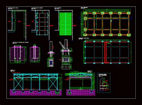 industrial hangar dwg section autocad designs cad