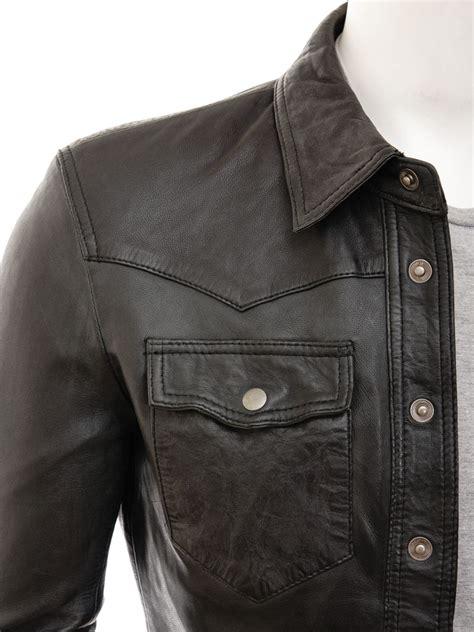 Kain Blaco Blacu Lebar 1 6 M mens black leather shirt beaworthy caine