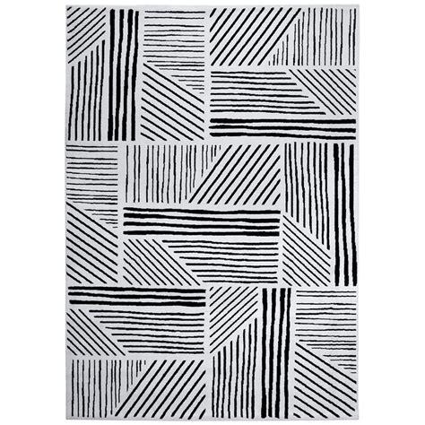 Tapis Rond Noir Et Blanc 3771 by Fabulous Esprit Tapis Graphics X Cm Noirblanc Tapis Esprit