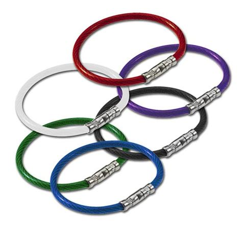 Twist Lock Key Ring - twisty twist lock coated cable key ring