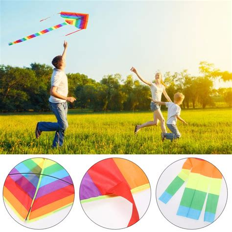 flying colours best sellers 1945006129 top selling 1pcs rainbow kite without flying tools outdoor fun sports kite factory children