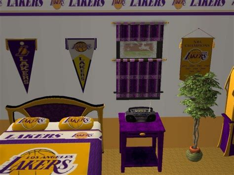 lakers bedroom mod the sims la lakers bedroom for nelo ice