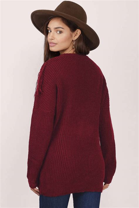 fringed sweater lost time fringed sweater 24 00 tobi