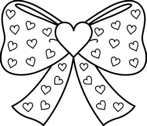 Girl Hair Bows Colouring Pages sketch template