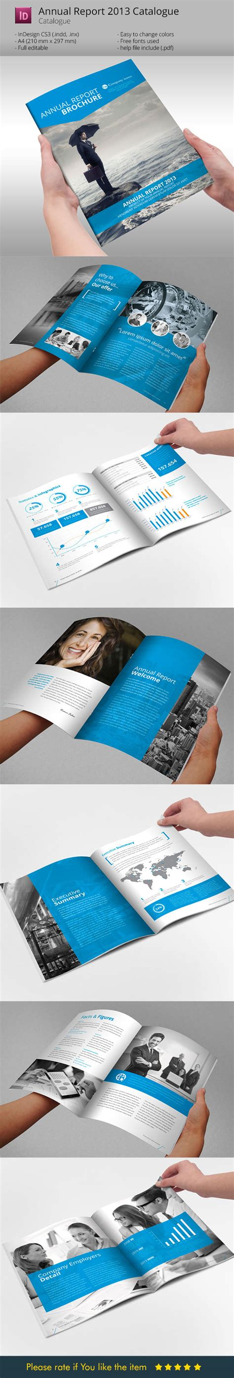 annual report brochure indesign template by braxasmora on