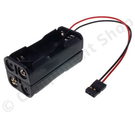Battery Aaa battery holder for 4 aaa batteries square jr lead