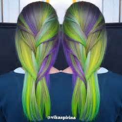 neon hair color neon green and purple hair colors ideas